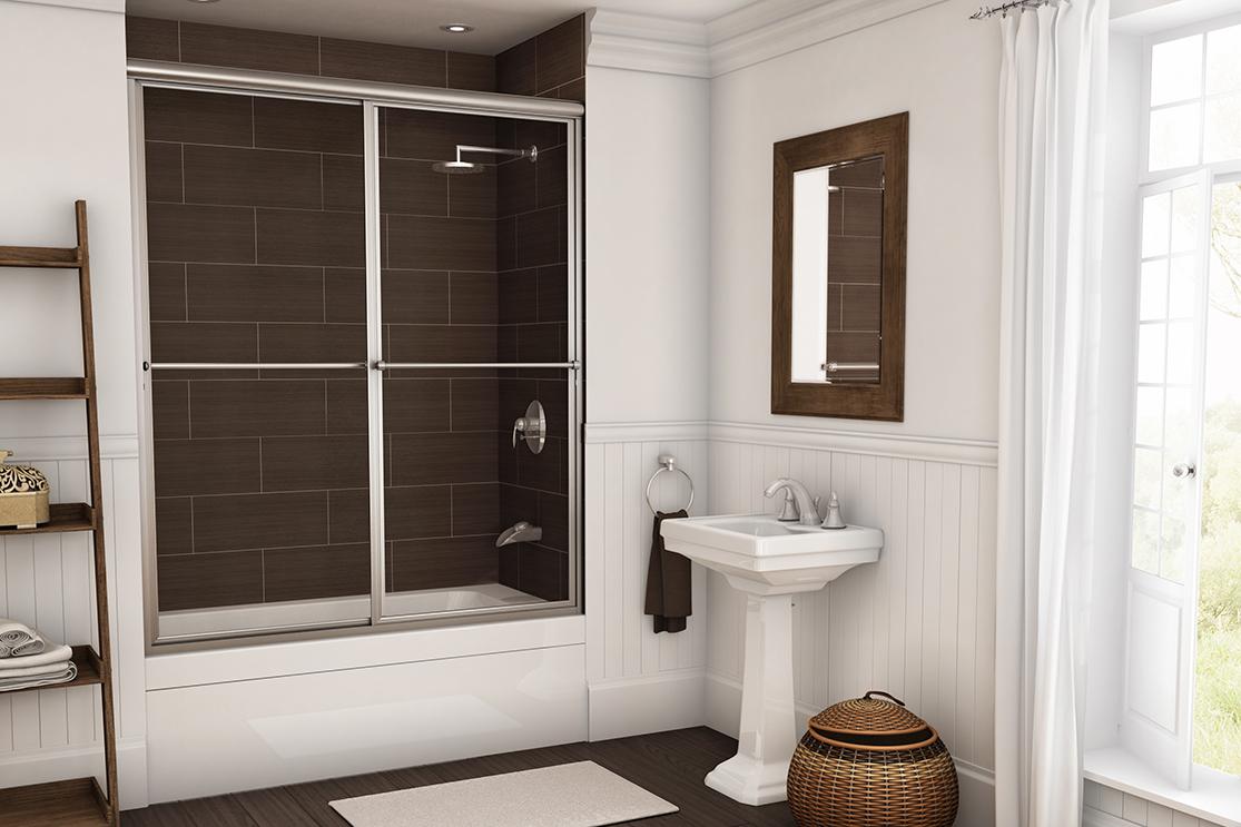 White bathroom standard shower door
