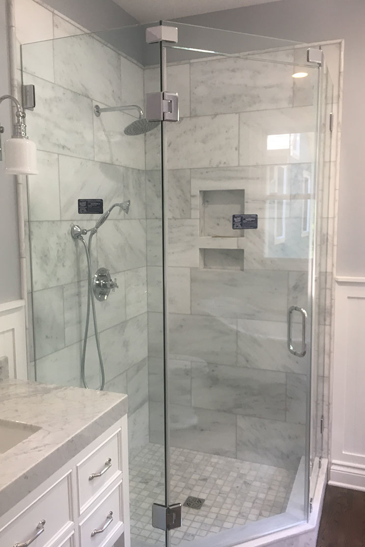 Mobile Glass shower install