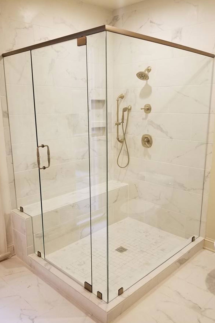 GMC Glass Shower Door Installation